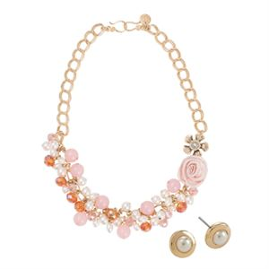 Picture of Flowers & Pearls - Gold